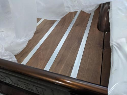 Gorgeous wood bed